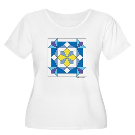 Wild Iris Women's Plus Size Scoop Neck T-Shirt