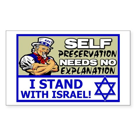 """""""I Stand With Israel!"""" Sticker (Rectangl"""