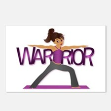 Warrior Yoga Girl Postcards (Package of 8)
