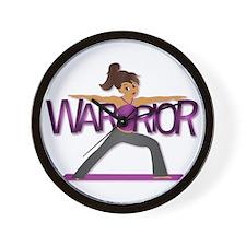 Warrior Yoga Girl Wall Clock