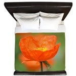 Orange Poppy Flower King Duvet