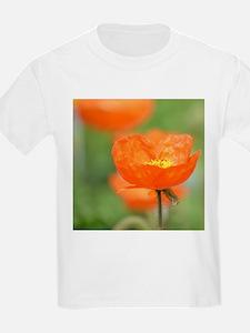 Orange Poppy Flower T-Shirt