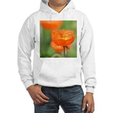 Orange Poppy Flower Hoodie
