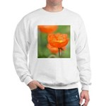 Orange Poppy Flower Sweatshirt