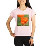 Orange Poppy Flower Performance Dry T-Shirt