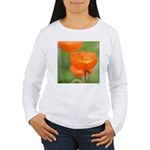 Orange Poppy Flower Women's Long Sleeve T-Shirt