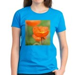 Orange Poppy Flower Women's Dark T-Shirt