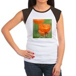 Orange Poppy Flower Women's Cap Sleeve T-Shirt