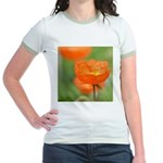 Orange Poppy Flower Jr. Ringer T-Shirt