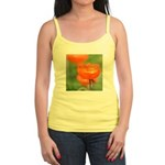 Orange Poppy Flower Jr. Spaghetti Tank