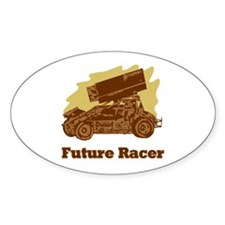 Future Auto Racer Oval Decal