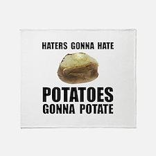 Potatoes Potate Throw Blanket
