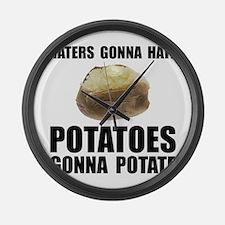 Potatoes Potate Large Wall Clock