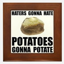 Potatoes Potate Framed Tile