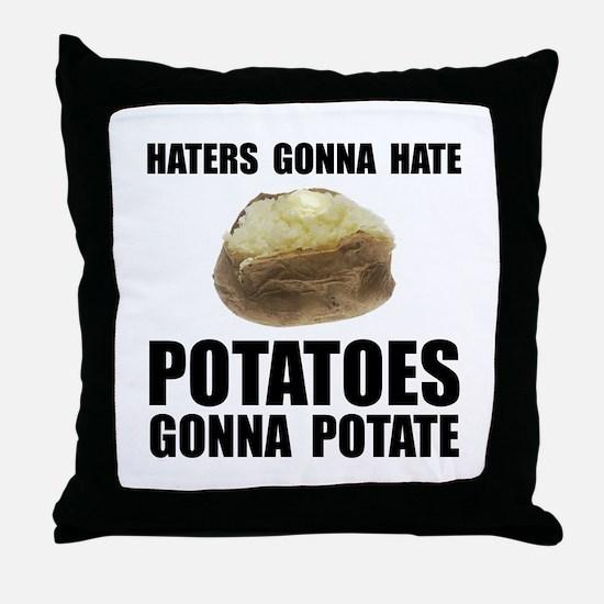 Potatoes Potate Throw Pillow