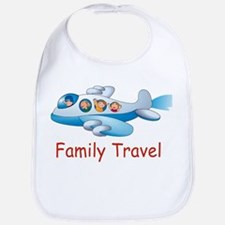 Family On Airplane Bib
