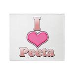 I Heart Peeta 1 Throw Blanket