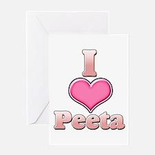 I Heart Peeta 1 Greeting Card