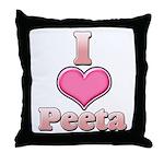 I Heart Peeta 1 Throw Pillow