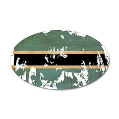 Botswana Flag 38.5 x 24.5 Oval Wall Peel
