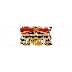 British Columbia Flag 21x7 Wall Peel