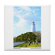 Ocracoke Lighthouse. Tile Coaster