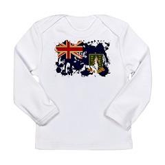 British Virgin Islands Flag Long Sleeve Infant T-S