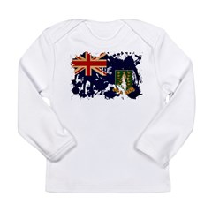 British Virgin Islands Flag Long Sleeve Infant T-S