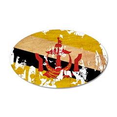 Brunei Flag 22x14 Oval Wall Peel