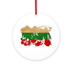 Bulgaria Flag Ornament (Round)