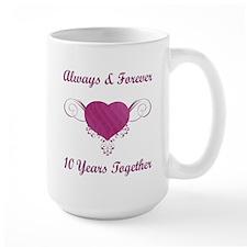 10th Anniversary Heart Mug