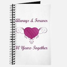 10th Anniversary Heart Journal