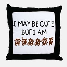 Cute but Messy! Throw Pillow