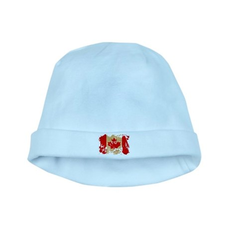 Canada Flag baby hat