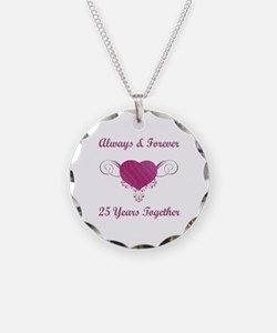 25th Anniversary Heart Necklace