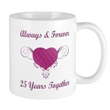 25th Anniversary Heart Mug