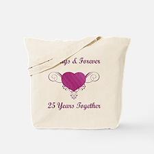 25th Anniversary Heart Tote Bag