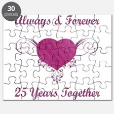 25th Anniversary Heart Puzzle