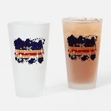 Cape Verde Flag Drinking Glass