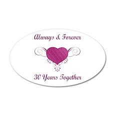 30th Anniversary Heart 22x14 Oval Wall Peel