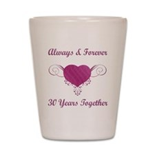 30th Anniversary Heart Shot Glass