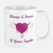 30th Anniversary Heart Mug