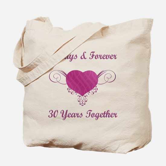 30th Anniversary Heart Tote Bag