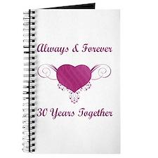 30th Anniversary Heart Journal