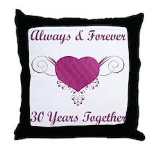 30th Anniversary Heart Throw Pillow