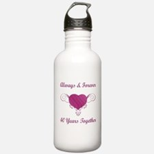 40th Anniversary Heart Water Bottle