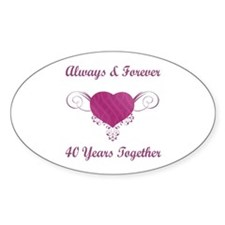 40th Anniversary Heart Decal