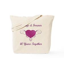 40th Anniversary Heart Tote Bag