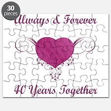 40th Anniversary Heart Puzzle
