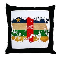 Central African Republic Flag Throw Pillow